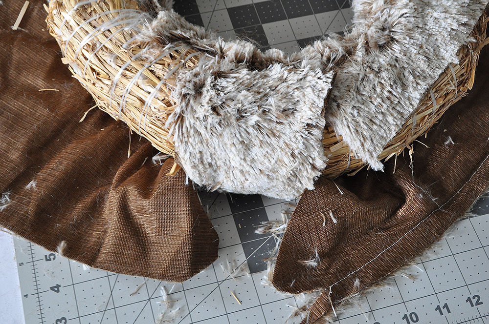 Rich Brown Faux Fur Wreath 36