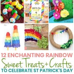 12 Easy Rainbow Treats + Crafts for St Patricks Day 29
