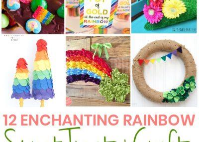12 Easy Rainbow Treats + Crafts for St Patricks Day 25