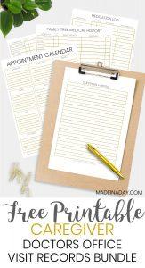 Be Prepared: Doctor Office Visit Medical Records Bundle 1