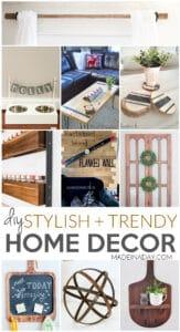 Stylish + Trendy DIY Home Decor Ideas 1