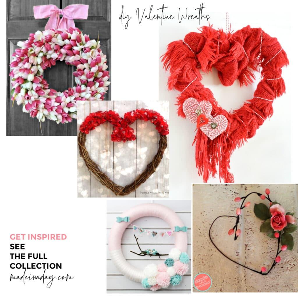12 Easy to Make Valentine Wreaths