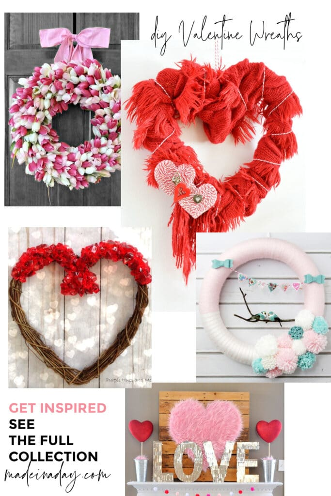 12 Easy to Make Valentine Wreaths and door hangers