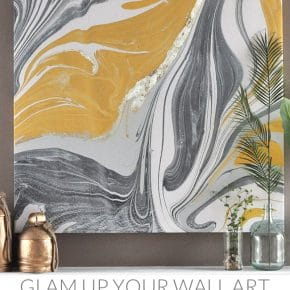 Gold Gilded Marble Canvas: Glam up Your Wall Art 29