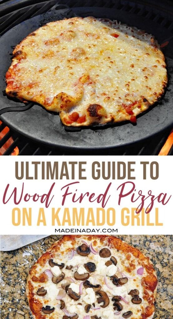 wood fired pizza on a Kamado Joe grill