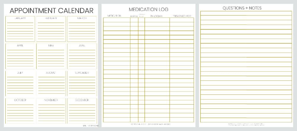 Be Prepared: Doctor Office Visit Medical Records Bundle 2
