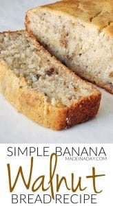 Super Moist & Simple Banana Nut Bread Recipe 1