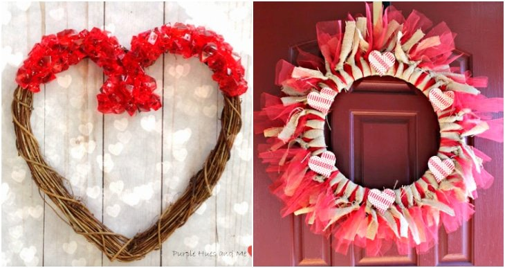 jewel heart wreath, red ribbon wreath