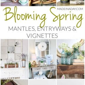 Blooming Fresh Spring Mantles, Entryways and Vignettes 1