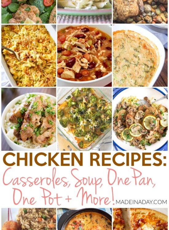 Chicken Recipes: Casseroles, Chili, One Pan, One Pot and More 6
