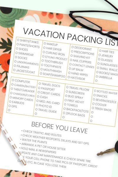 The Complete Vacation Travel Packing List + Tips