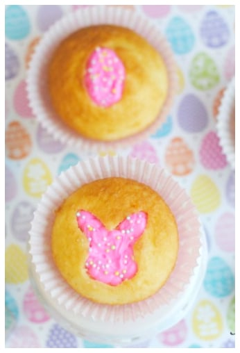 Keyhole Easter Bunny Cupcakes