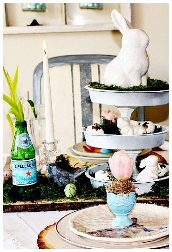 bunny tray centerpiece