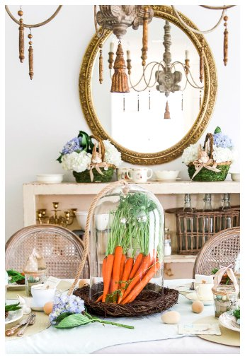 Easter table with carrots