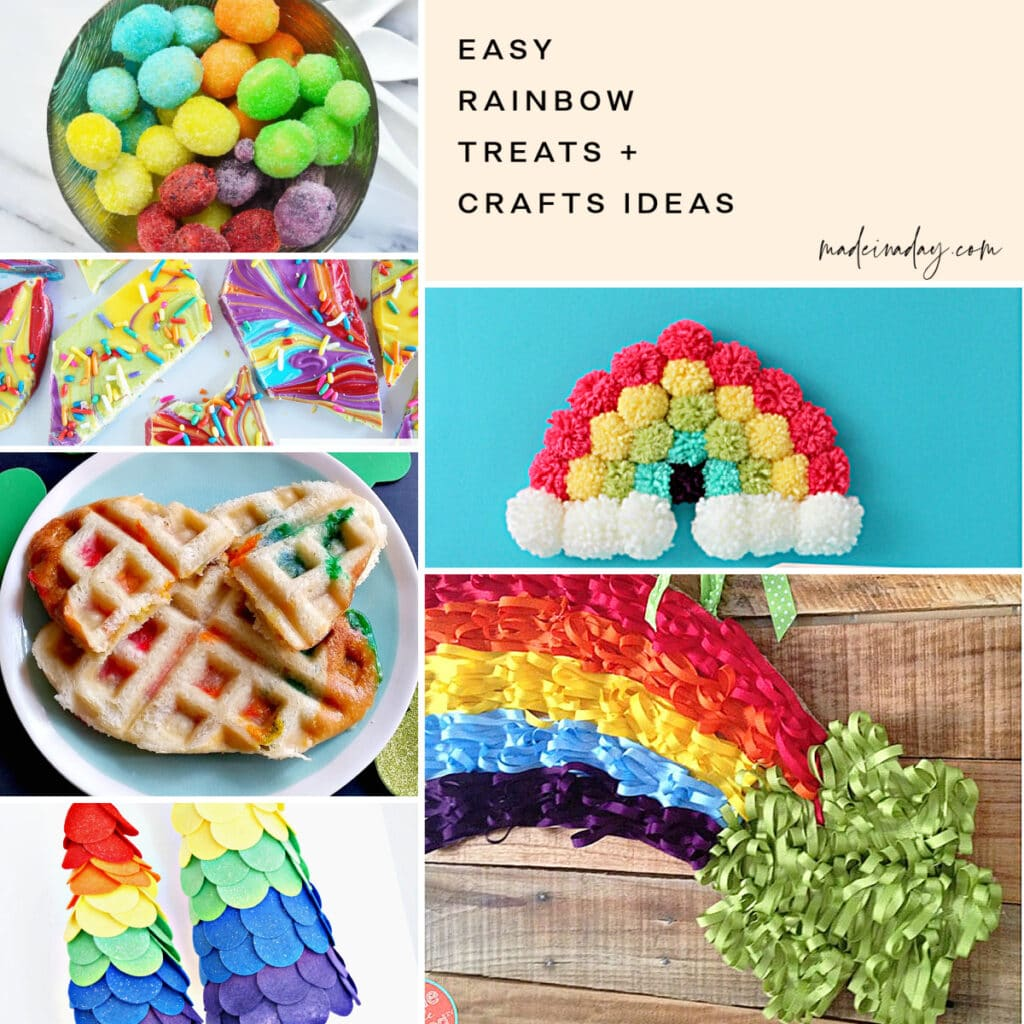 Easy Rainbow Treats and Crafts Ideas