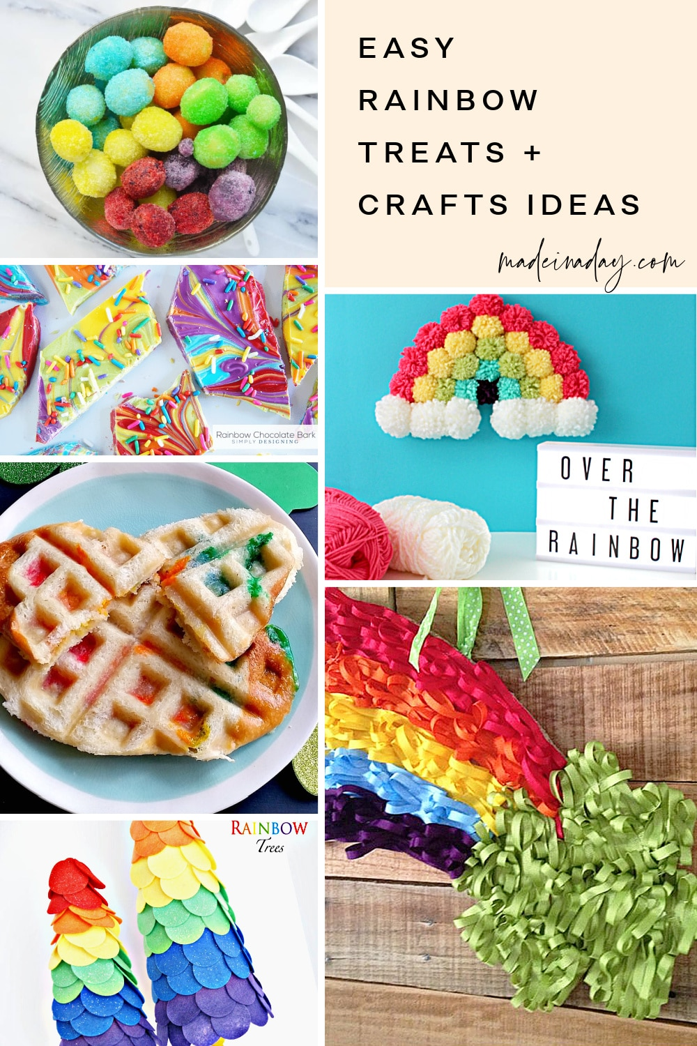 12 Easy Rainbow Treats and Crafts Ideas
