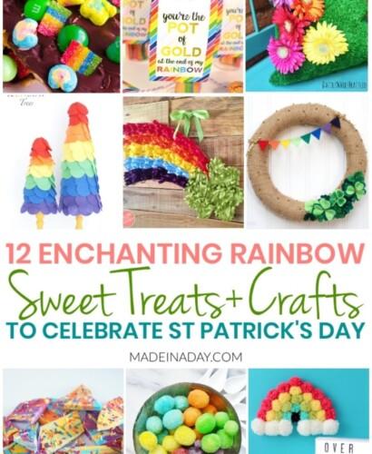 12 Easy Rainbow Treats + Crafts for St Patricks Day 33