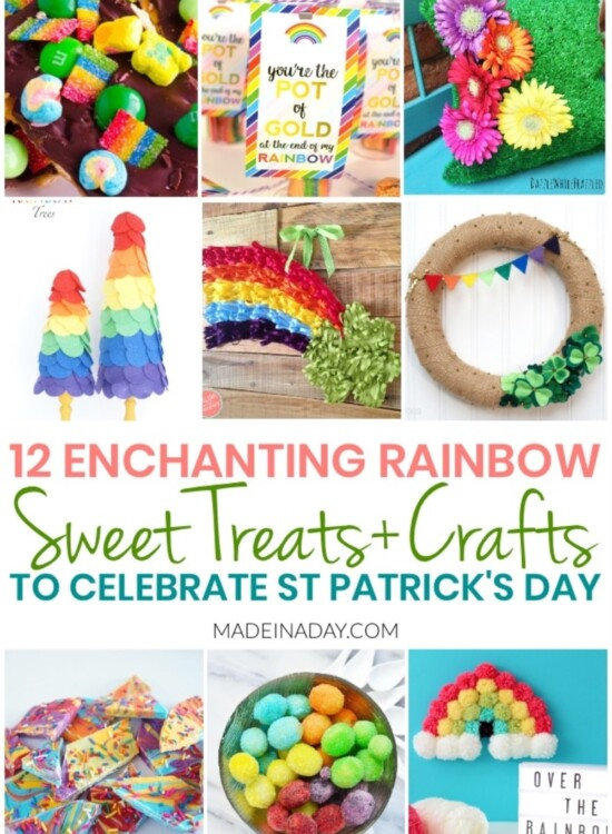 12 Easy Rainbow Treats + Crafts for St Patricks Day 31