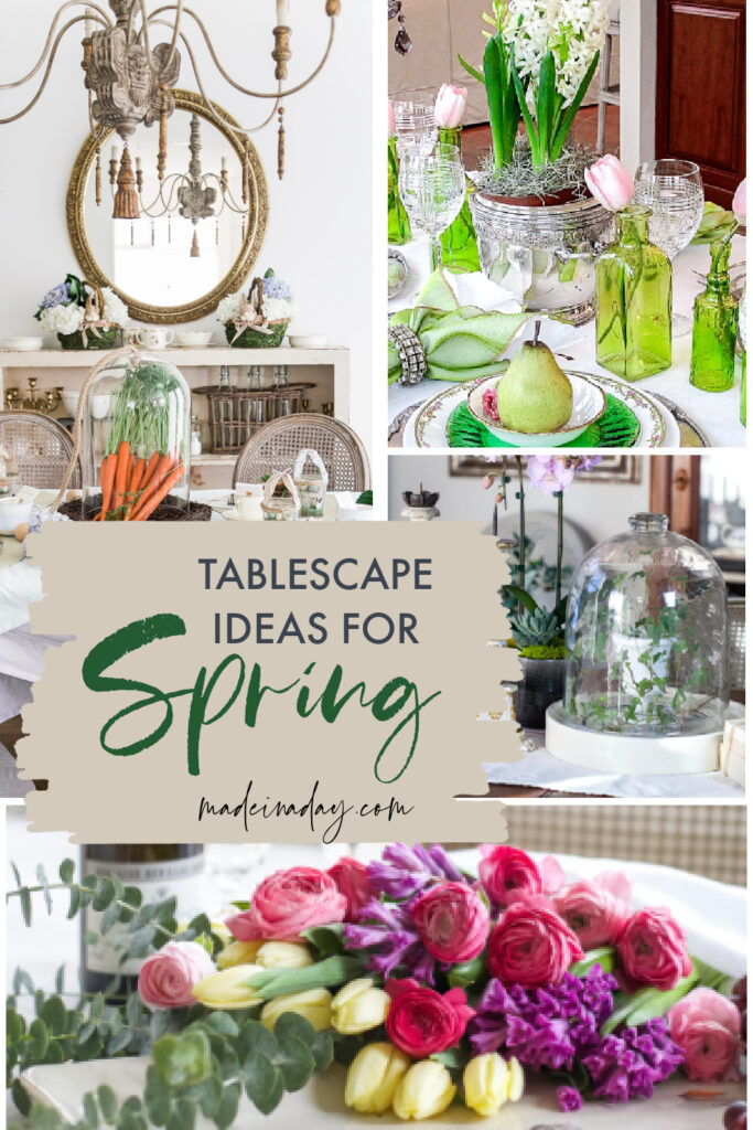 Tablescapes for spring decorating