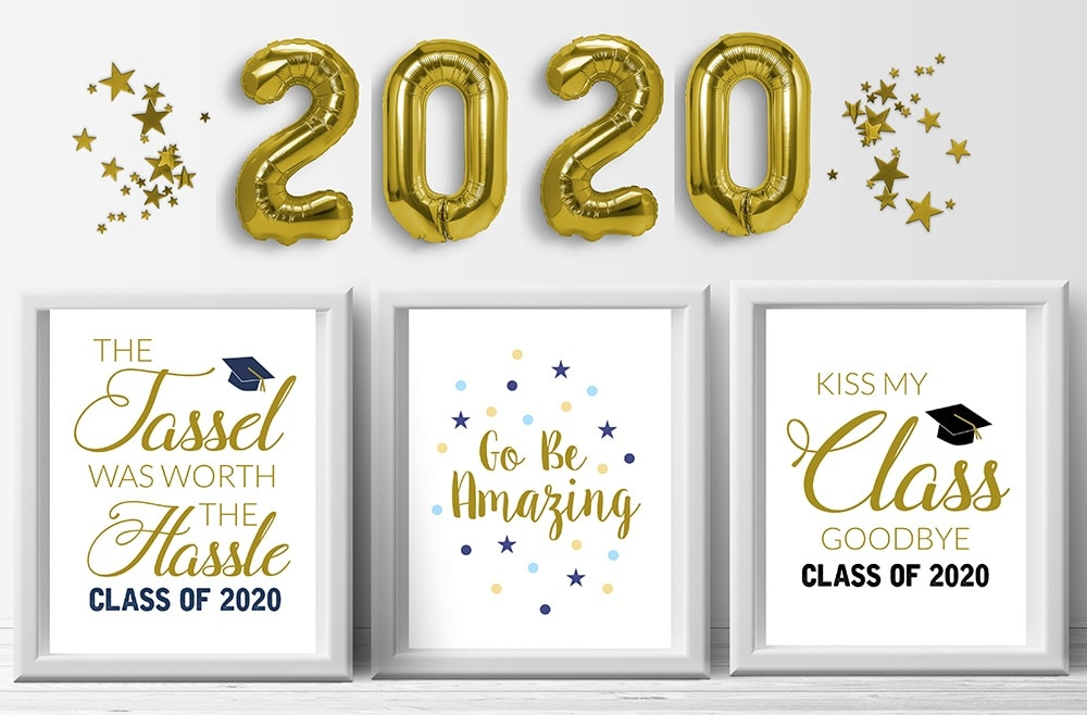 2020 Graduation Party Prints, tassel was worth the hassle, kiss my class
