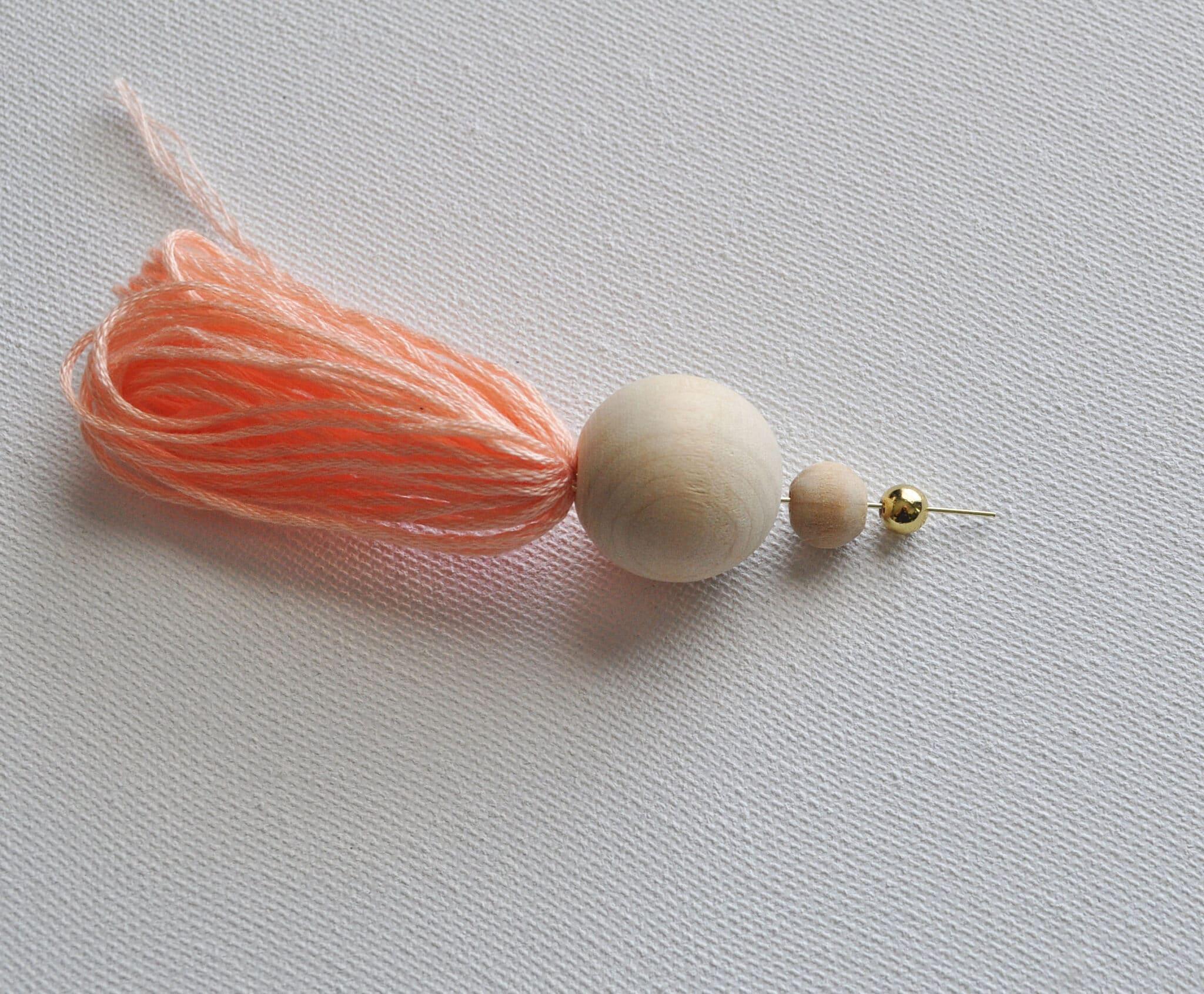 tassel earring, beaded tassel earring
