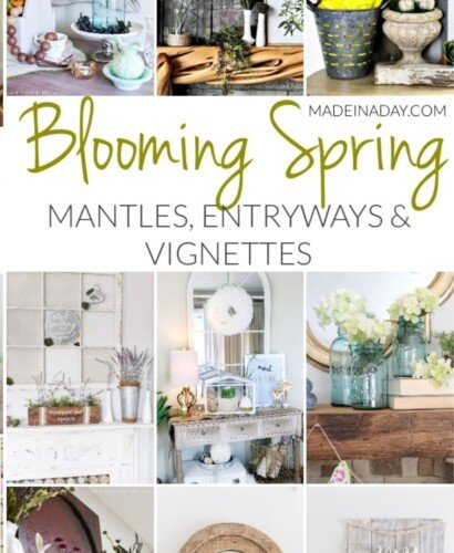 Blooming Fresh Spring Mantles, Entryways and Vignettes 33