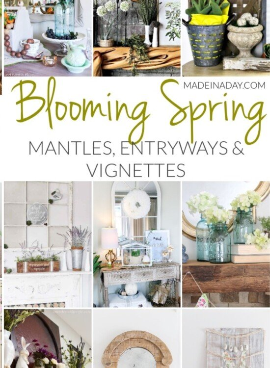 Blooming Fresh Spring Mantles, Entryways and Vignettes 39