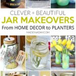 Clever + Beautiful Jar Makeovers For Home Decor 29