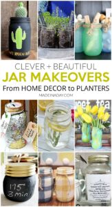 Clever + Beautiful Jar Makeovers For Home Decor 1