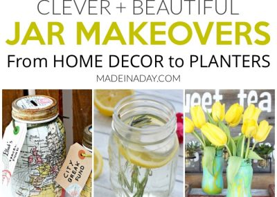 Clever + Beautiful Jar Makeovers For Home Decor 12