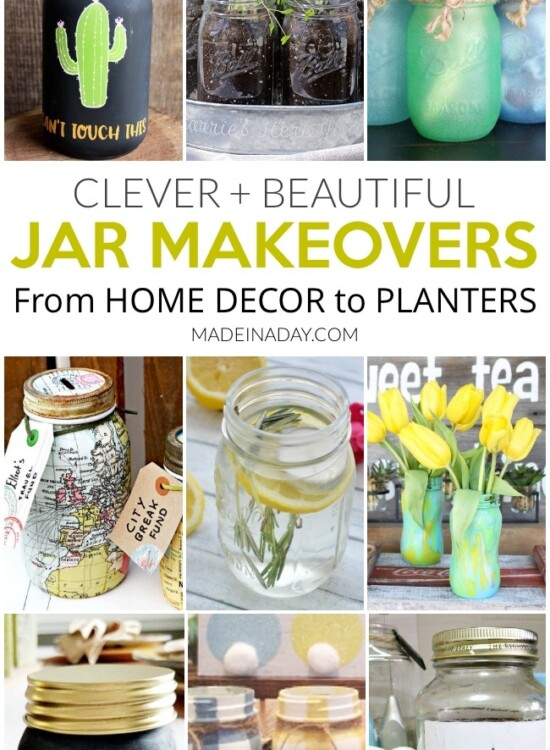 Clever + Beautiful Jar Makeovers For Home Decor 9