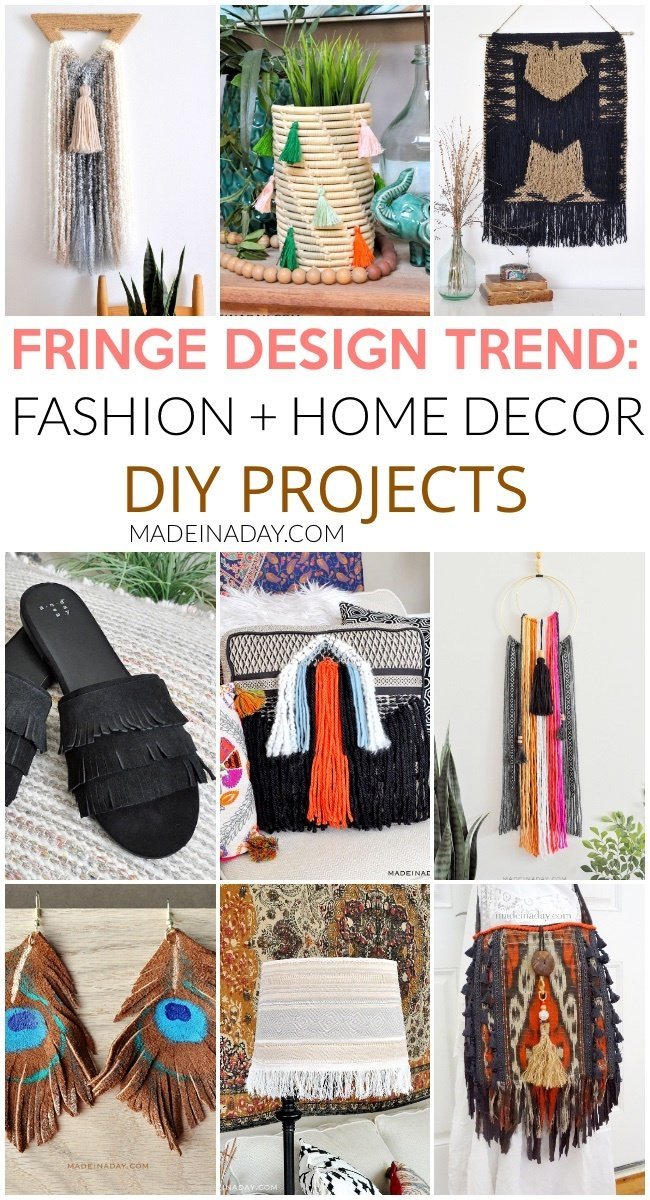 How to Make Tassels and Fringe for Jewelry and Decor, 30+ projects, how to make tassels with embroidery thread, how to tie a tassel, DIYing tassels, tassels on a scarf, fringe sandals, fringe throw pillow, fringe wall art, fringe boho wall art, fringe tapestry, #tassle #fringe #jewelry #homedecor #DIY