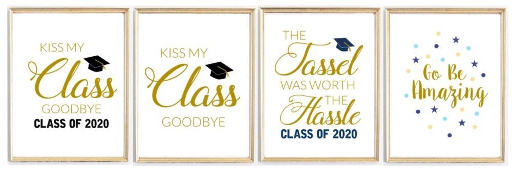 graduation party prints