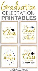 Celebration Quotes: Graduation Printables for Party Decor 1