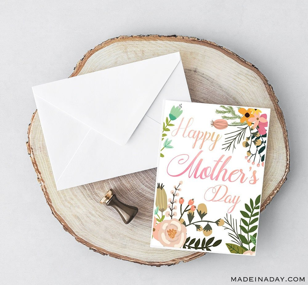 Happy Mother's Day card printable, free printable Mother's Day card, mother's day cards to make, mother's day wishes