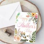 Botanical Foldable Mother's Day Card Printable