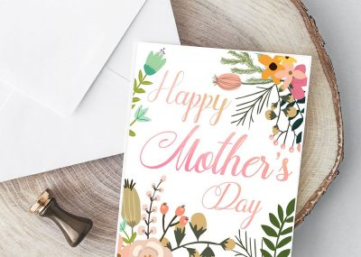 Beautiful Botanical Foldable Mother's Day Card Printable 9