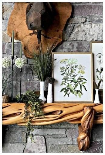 botanical spring mantle