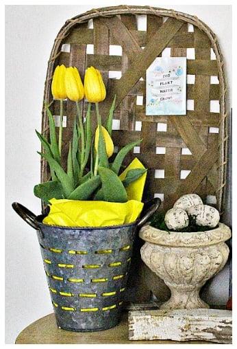 Tobacco basket tulip basket