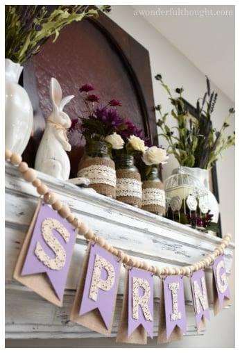 purple spring mantle