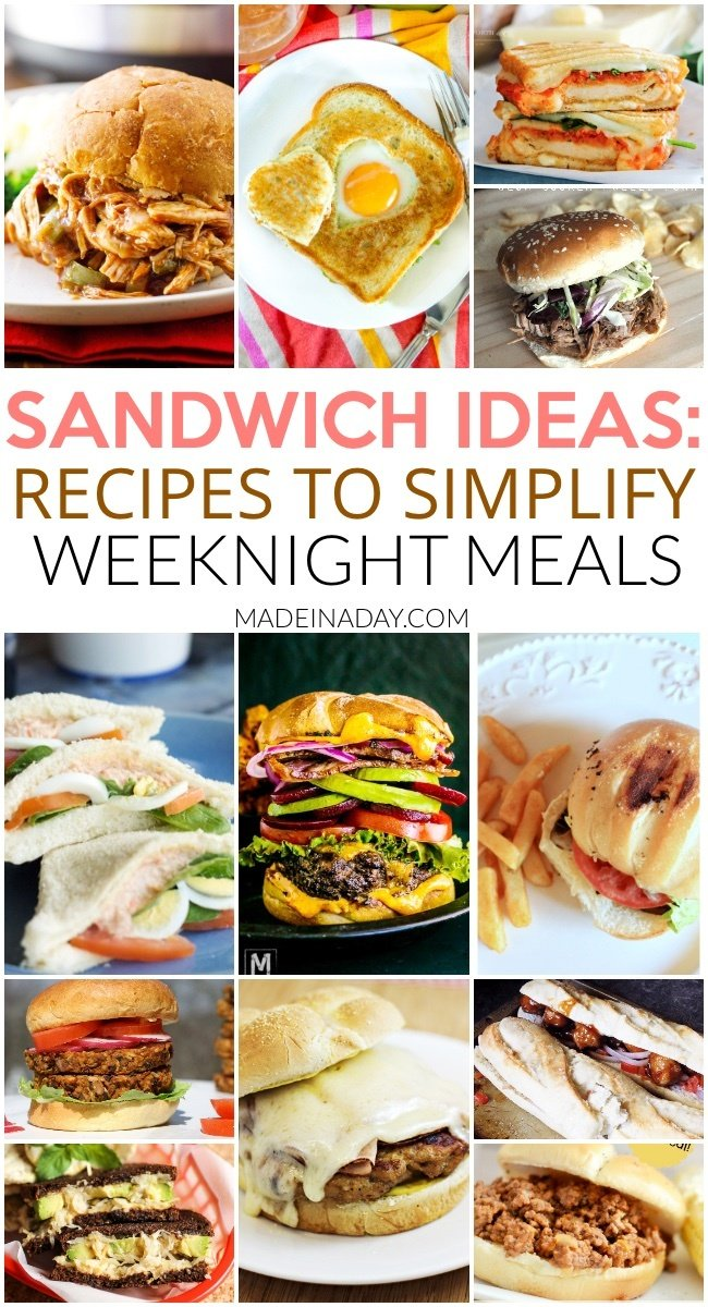 Spotlight Sandwiches: Recipes to Make Weeknight Meals a Breeze, slow cooker chicken, slow cooker pork, chicken parmesan sandwich, grilled cheese, burgers, chicken cordon bleu, portobello mushrooms, crab sandwich, sauerkraut & avocado and more! #sandwich #sandwichideas #sandwichrecipes #burgers #slowcooker #crockpot #panini