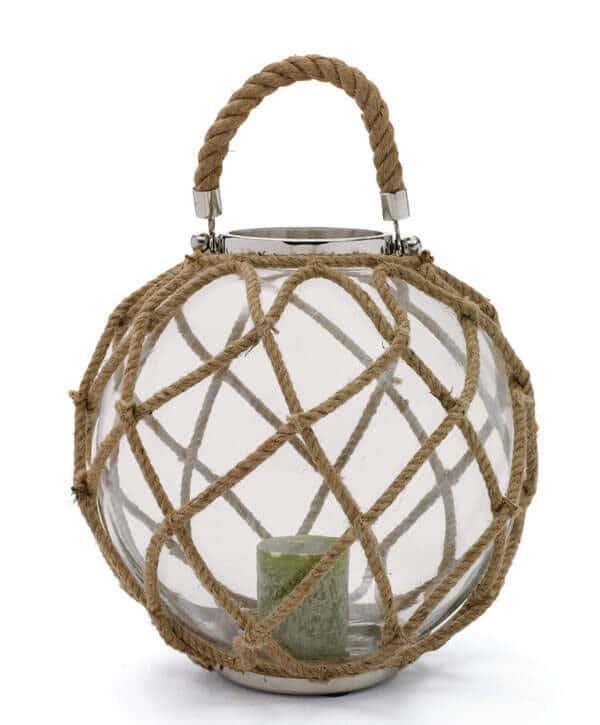 buoy lantern, jute rope lantern