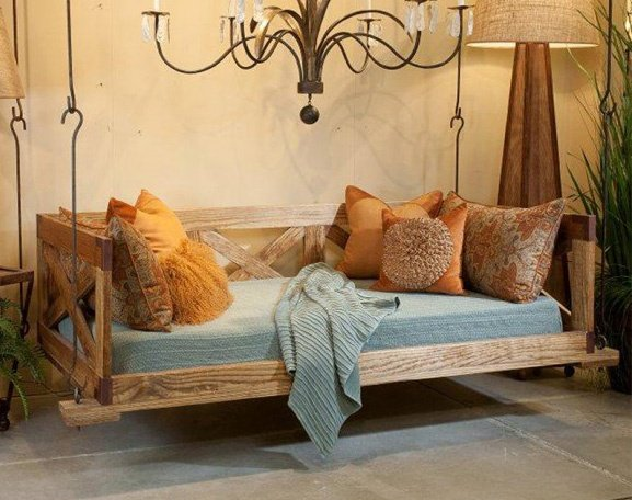 bed swing, swinging bed, low country bed swing