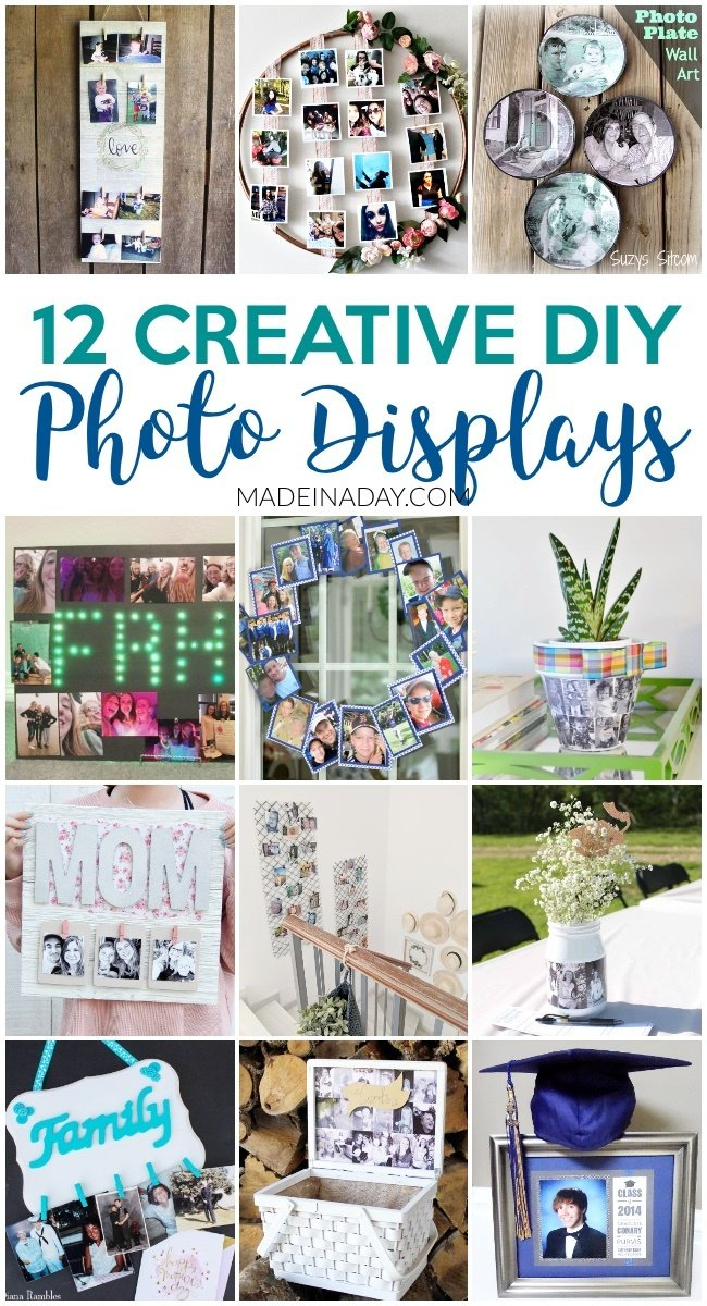 12 Super Creative DIY Photo Displays for Gifts