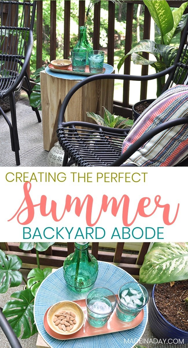 #ad Create the Perfect Summer Backyard Abode with Article, Article furniture, Medan lounge chair, Tana stool, Stria Rug, Bohemian backyard, patio furniture, rattan garden furniture, eco-friendly wicker, synthetic rattan, teakwood table, outdoor furniture, wicker outdoor furniture, rattan outdoor furniture, porch chairs, metal garden furniture #MedanChair #StriaRug #TanaStool #ourArticle #rattan #boho #patio #wicker #ecofriendly #teakwood #outdoor #furniture #balcony #deck