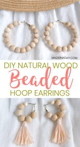 How to Make Your Own Wood Beaded Hoop Earrings 1