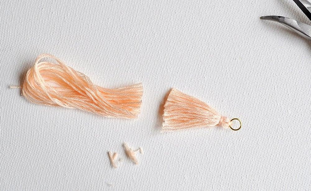 DIY tassel for hoop earrings