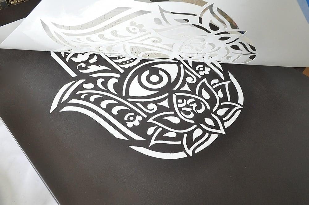 Budda hand Stencil