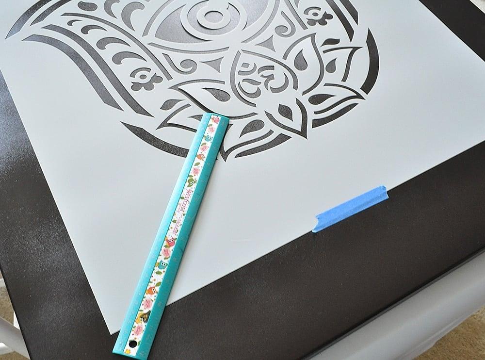 Hamsa Hand Stencil