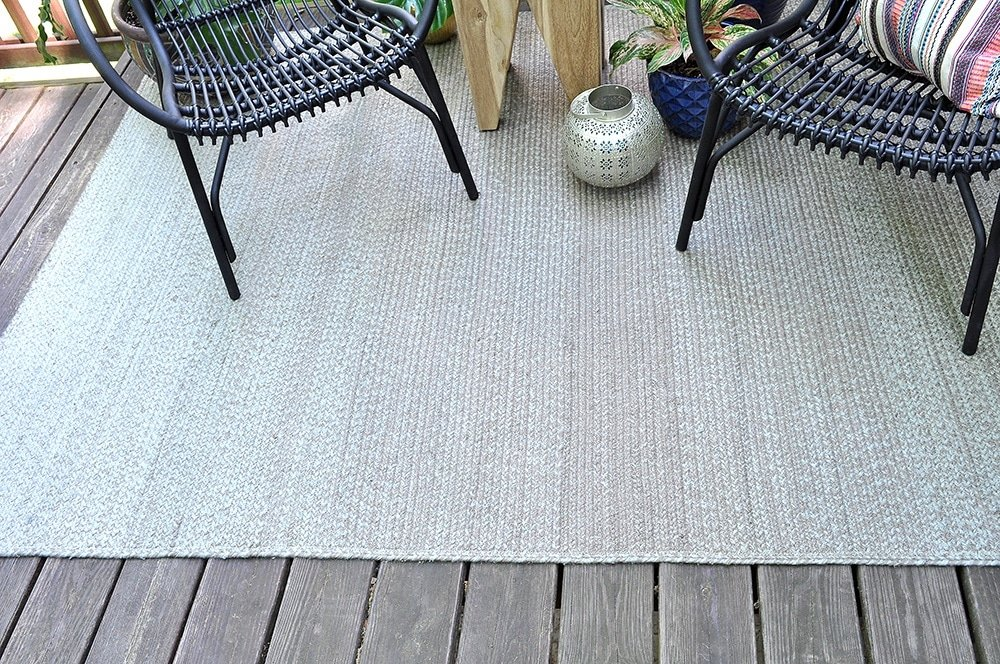 Stria Rug Light Grey/ Dark Grey, Ombre Rug, patio outdoor rug
